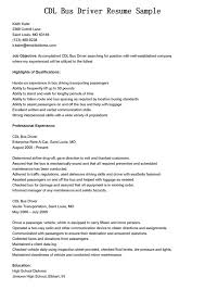 bus driver resume resume sample database resume