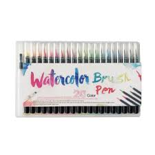 <b>20 Colors</b>/lot Set Professional <b>Watercolor Painting</b> Soft Brush Pen ...