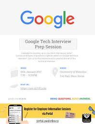 google tech interview prep employer information session google tech interview prep employer information session waterloo events