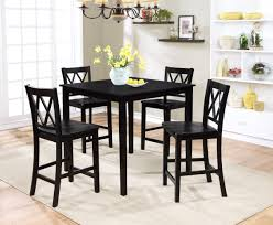 Kitchen Set Table And Chairs Essential Home Dahlia 5 Piece Black Finish Dining Set Kmart