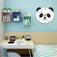 2019 <b>New Arrivals Creative Cartoon</b> Panda Wall Clock Silence ...