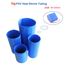 <b>1KG</b> PVC <b>Heat shrink</b> tube 18 350mm blue shrink wrapping <b>heat</b> ...