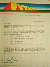 monty python and the holy grail s censor negotiation letter from monty python and the holy grail s censor negotiation letter from 1974 movies