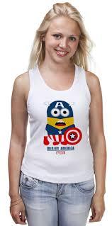 "Майка классическая ""Minion America"" #641402 от Savara - <b>Printio</b>"