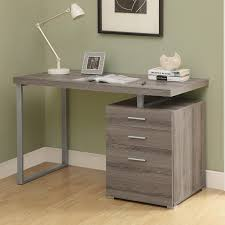 stunning corner computer desk with glossy black glass top and exquisite beige finish cherry grey polished black glass office desk 1