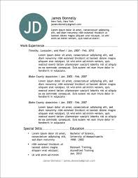free resumes templates  seangarrette cojames donnely download a resume template for free special skills education and relevant training     resumes