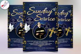 sunday service flyer template flyer templates on creative market sunday service flyer template