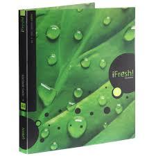 "<b>Папка на 4 кольцах</b> Hatber ""iFresh!: Лист"", цвет: зеленый. Формат ..."
