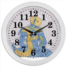 <b>Часы круглые из</b> пластика Час Бога #2633192 от Achadidi.<b>printio</b>.ru