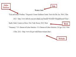 best photos of      mla format works cited mla format works lbartman com