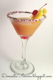 Martini Recipes Vodka Domestic Femme Pineapple Upside Down Cake Martini
