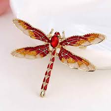 New <b>Hot</b> Painted Dragonfly Pins Metal Badge Brooch For Women ...