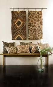 vintage fabric woven from raffia palm leaf fibers for wall hanging and cushions african inspired furniture