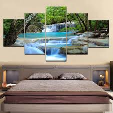 Online Shop 5 panel wall <b>pictures</b> for living room <b>art</b> Waterfall ...