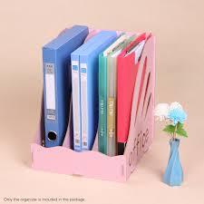 <b>Wood Desktop File</b> Organizer <b>Document</b> Folder Holder 3 Upright ...