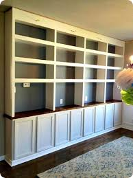 diy built ins with bases bookcase lighting ideas