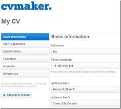 Cvmaker Make A Cv Online For Free Amp Download As Pdfmake A Free ... Cvmaker Make A Cv Online For Free Amp Download As Pdfmake A Free Cv Online .