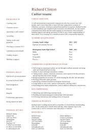 Cashier Job Resume Sample  cashier job resume cashier sample