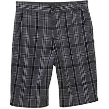 Faded Glory Mens Flat Front Plaid <b>Twill Shorts</b> (38, Grey Plaid) - Buy ...