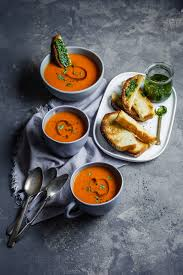 <b>Classic Roasted</b> Tomato And Sweet Pepper Soup With Swedish ...