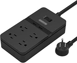 <b>NTONPOWER</b> 4 Outlet <b>Power Strip Surge Protector</b> with <b>2</b> USB ...