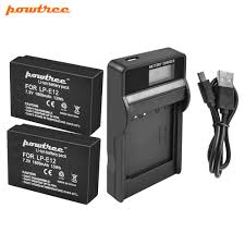<b>Powtree For Canon</b> 2PCS 7.2V 1800mAh LP E12 LP E12 LPE12 ...