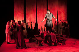 the theatrical designs of gary benson macbeth scene design macbeth s me own after seeing the ghost of banquo use of furniture to change location