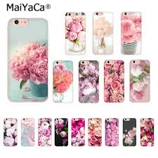 <b>MaiYaCa For iphone 7</b> 6 X Case Pink Flower Peony On The Vase ...