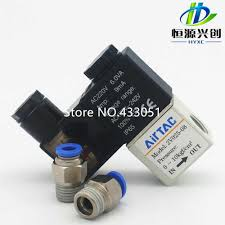 <b>Air solenoid valve</b>, single coil double location, 24 V DC power ...