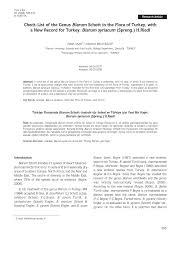 (PDF) Check-List of the Genus Biarum Schott in the Flora of Turkey