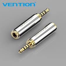 <b>Vention</b> 1Pcs 2.5mm male to <b>3.5mm</b> female <b>Audio Plug</b> 4 poles ...