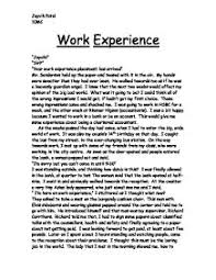 work experience at hsbc    gcse work experience reports   marked    work experience at hsbc