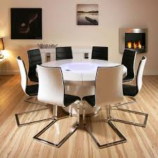 gloss dining table black large round white gloss dining table and  white black dining chairs qu