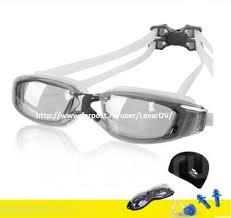 Классный <b>комплект для плавания</b>-очки+шапочка+заглушки+сумка ...