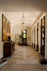 greenlee gallery example of a classic hallway design in austin with white walls and travertine floors best lighting for hallways