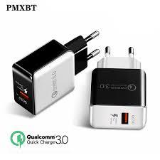 QC3.0 <b>USB Charger</b> EU US Wall/Travel Mobile Phone <b>Charge</b> ...