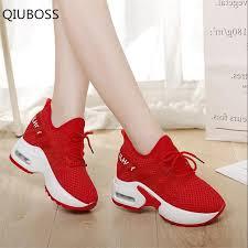 <b>QIUBOSS women</b> casual shoes four seasons Leather net <b>woman</b> ...