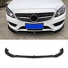 <b>W176</b> Splitter <b>Front</b> Bumper Lip <b>Carbon Fiber</b> Canards For ...