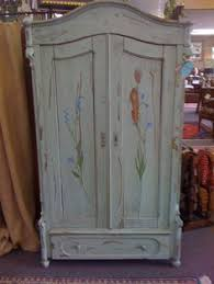 blue vintage armoire antique armoire furniture