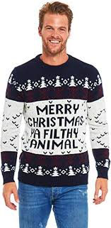 Unisex Men's <b>Ugly Christmas</b> Sweater <b>Knit Funny</b> Fairisle Filthy ...