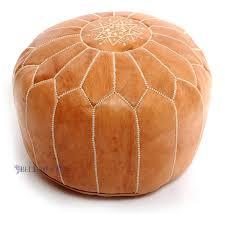 amazoncom stuffed moroccan tan leather pouf handmade pouffe
