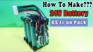 How To Make <b>24V</b> RECHARGEABLE <b>BATTERY Pack</b> - YouTube
