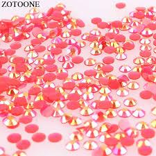 <b>ZOTOONE 1000Pcs</b> Stones And Crystals AB Red Rhinestones For ...