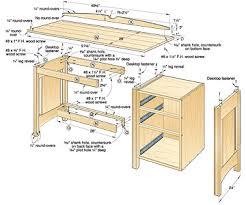woodworking plans desks built in office desk plans