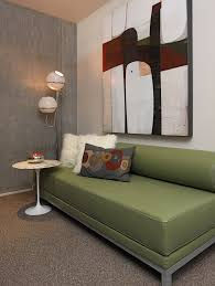 chic sofa sleepers in home office modern with next to vintage lamp alongside retro daybed and rattan sleeper sofa chic vintage home office