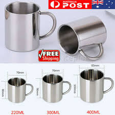 3Size <b>Stainless</b> Steel Cup Mug Drinking Coffee Beer Picnic ...