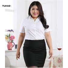 TUHAO 2019 <b>summer office lady</b> Blouses Shirts Plus Size 5XL 6XL ...