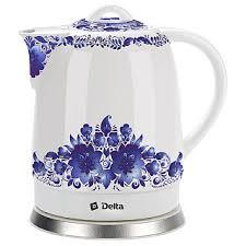 """<b>Чайник</b> электрический 1500 Вт 1,7 л <b>DELTA DL</b>-1233В """"Синие ..."""