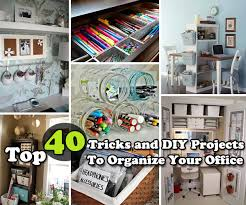 top 40 tricks and diy projects to organize your office bathroomcute diy office homemade desk