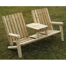 modern patio set outdoor decor inspiration wooden:  brilliant patio furniture loveseat exterior decorating pictures rustic natural cedar furniture company cedar log garden loveseat